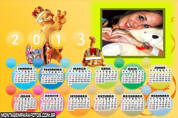 Moldura Garfield Calendário 2013