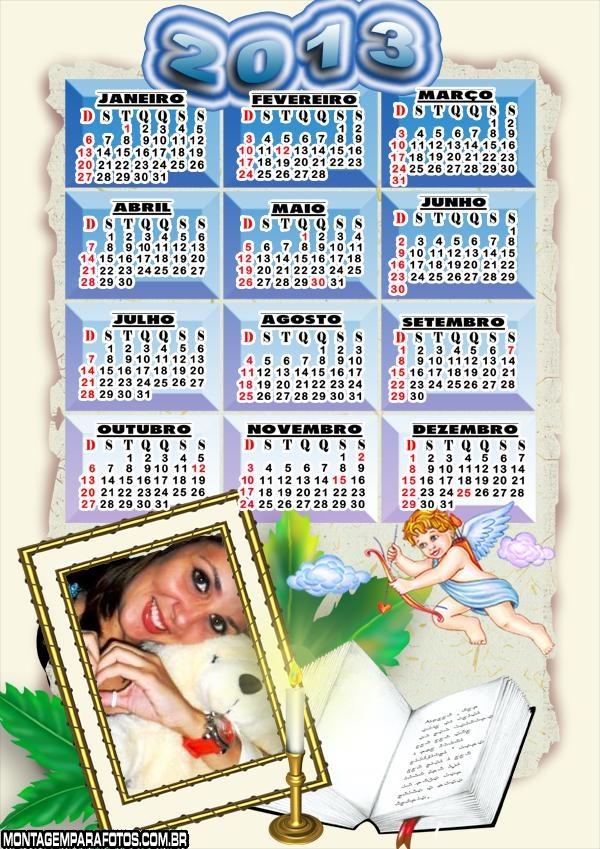 Moldura Calendário Cupido 2013