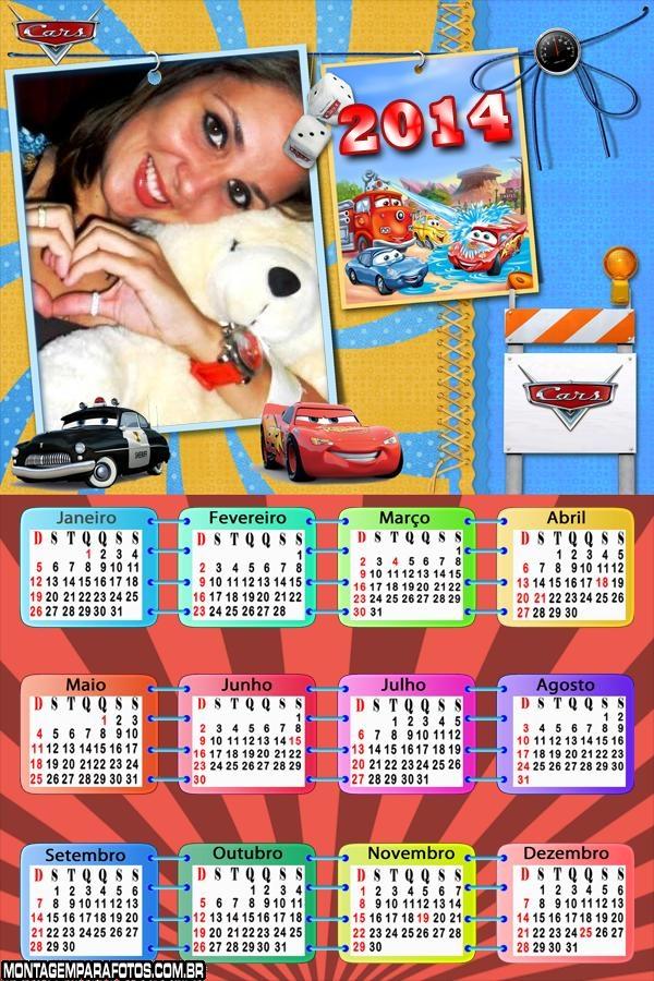 Calendário 2014 Carros o Filme