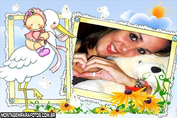 Moldura Neném e Cegoinha