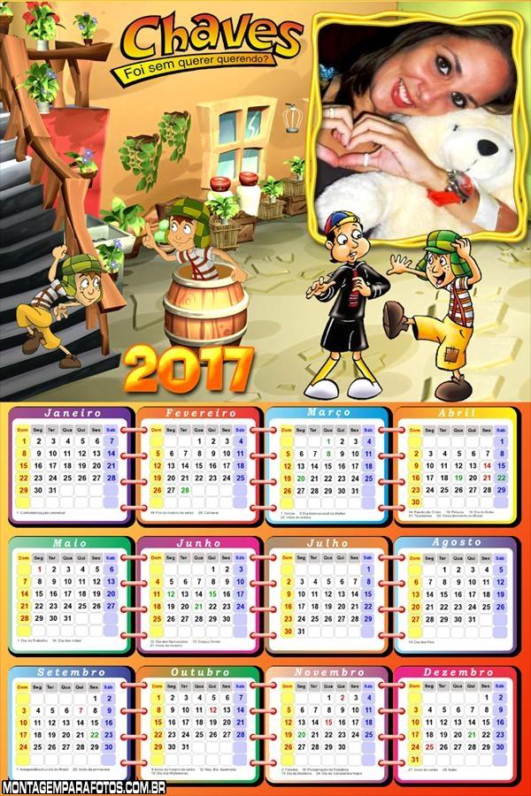 Calendário 2017 Turma do Chaves Desenho