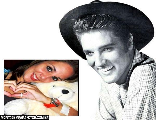 Moldura cantor Elvis Presley