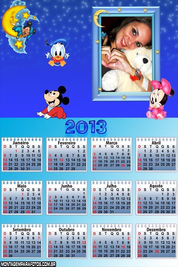 Disney Bebê na Lua Calendário