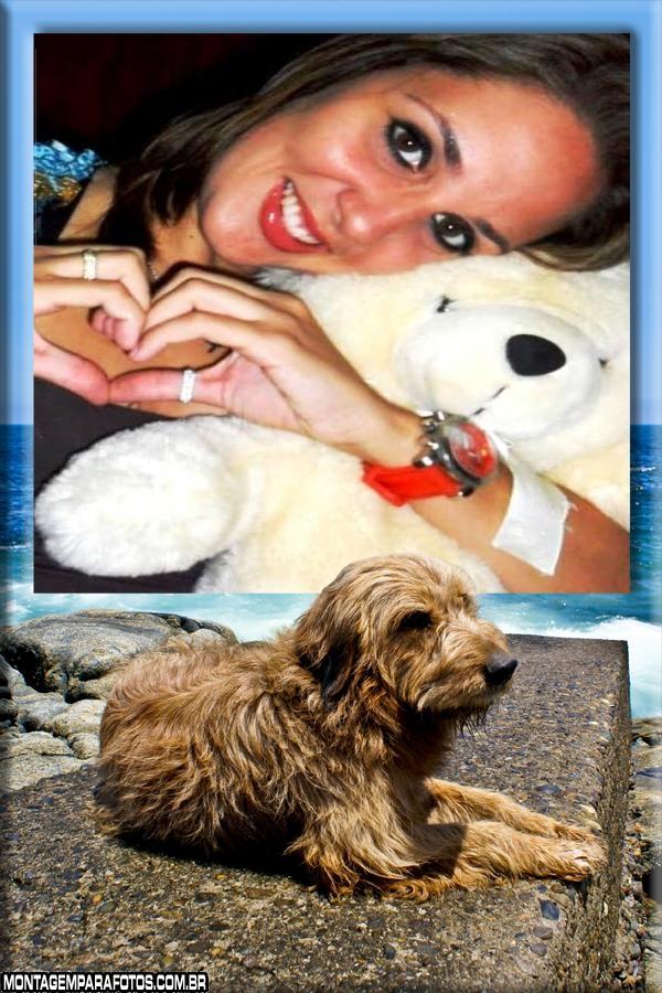 Moldura Cão na Praia