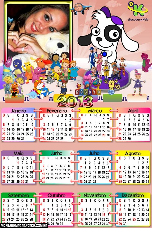 Calendário Discovery Kids 2013