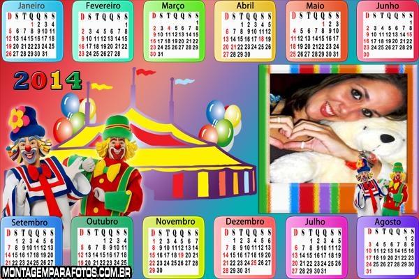 Calendário 2014 Patati Circo