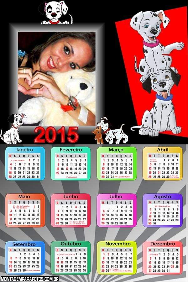 Calendário 2015 Dálmatas
