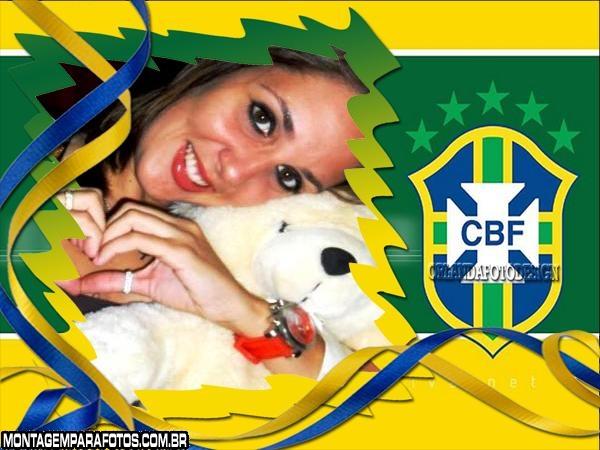 Escudo da CBF Brasil Moldura