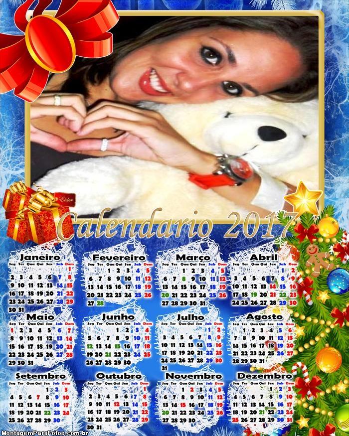 Calendário 2017 Simples de Natal