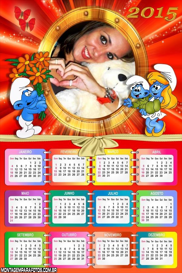 Calendário 2015 Smurfs