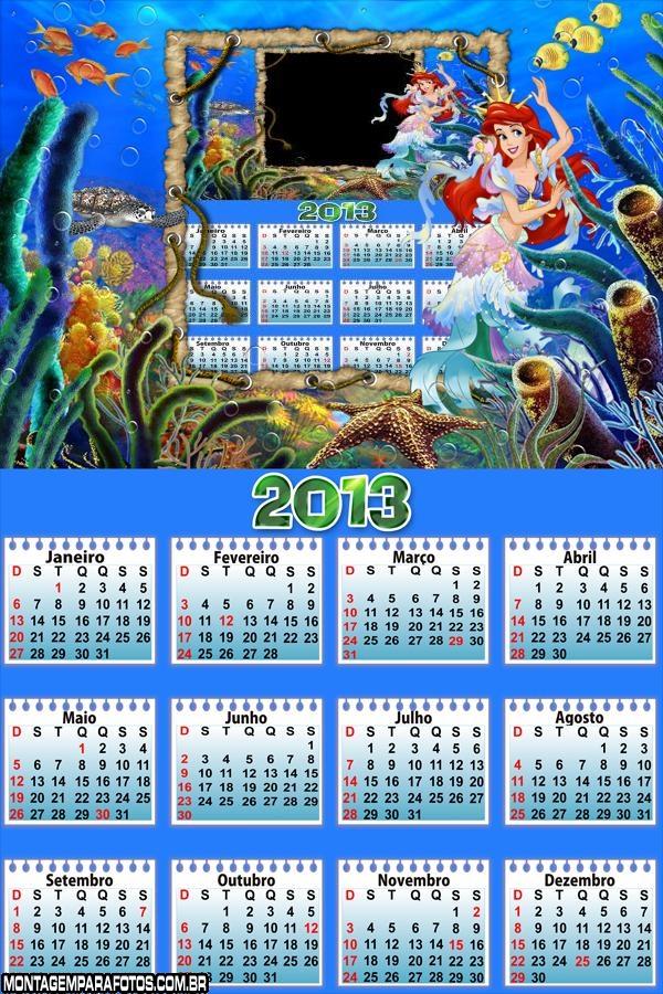 Calendário Pequena Sereia 2013