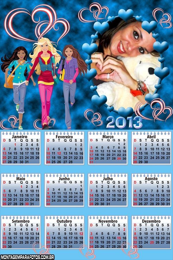 Barbie e Amigas Calendário 2013
