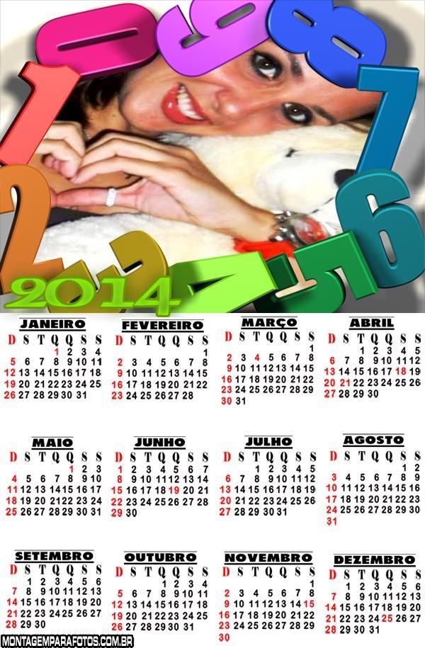 Calendário 2014 Colorido