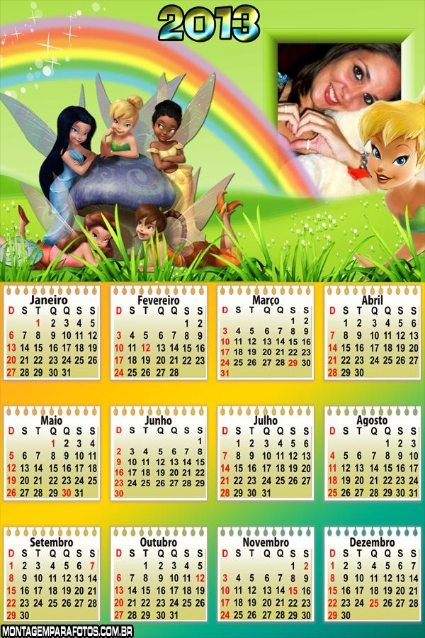 Calendário Fadinhas 2013