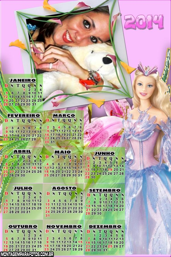 Calend�rio da Barbie 2014