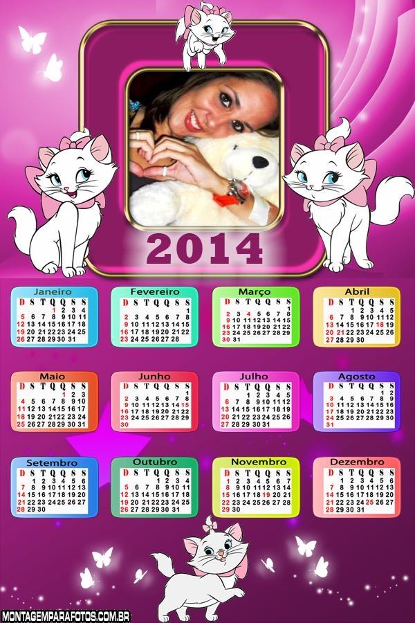 Calend�rio 2014 Gatinha Marie