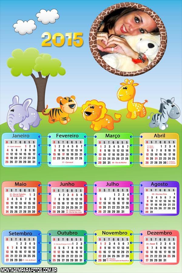 Calendário 2015 Safari Baby