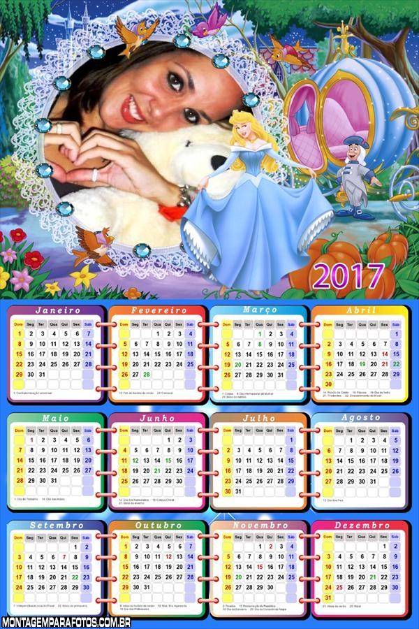 Calendário 2017 Cinderela na Carruagem