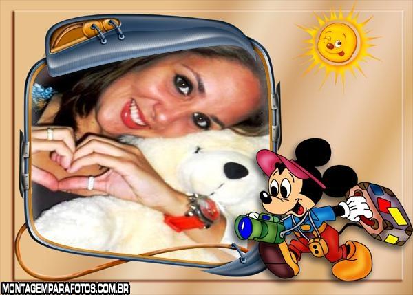 Moldura Turismo com Mickey