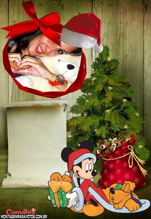 Moldura Mickey Papai Noel