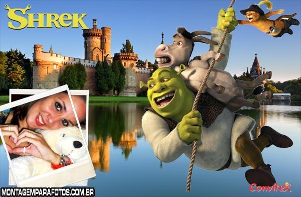 Moldura Shrek na Corda