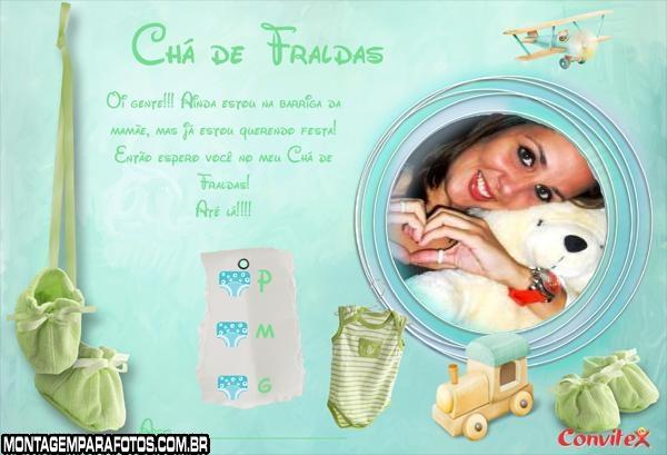 Convite Chá de Fraldas