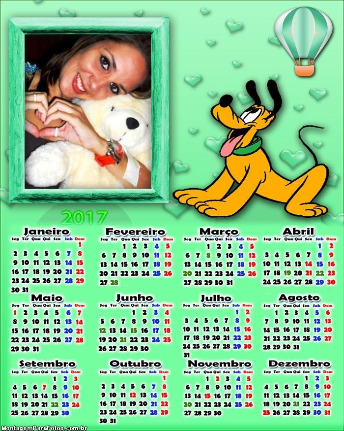 Calendário 2017 Pluto