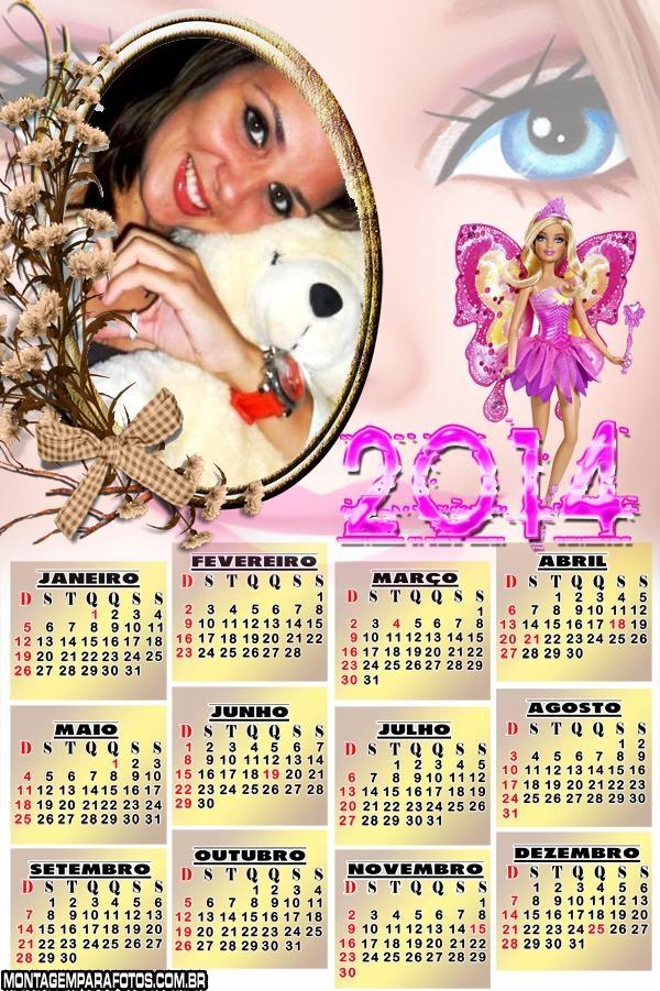 Calend�rio 2014 Barbie