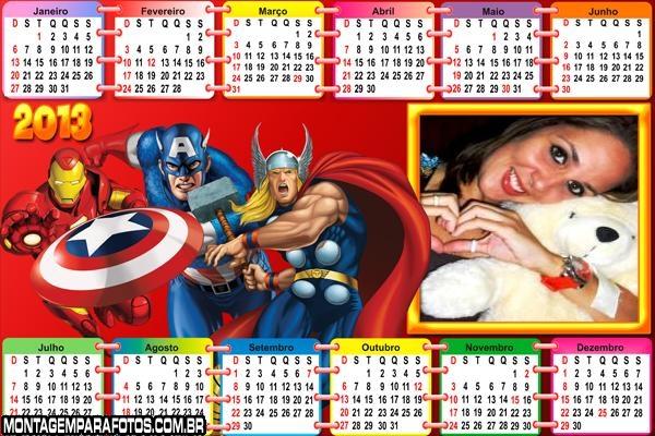 Calend�rio Personagens Marvel