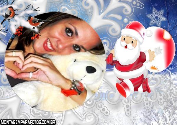 Moldura Papai de Noel de Cera