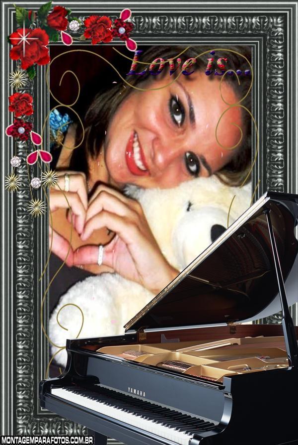 Moldura Amor é Piano