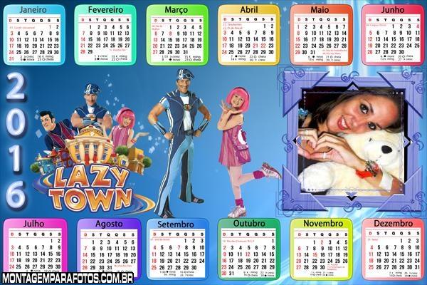 Calendário Lazy Town Discovery Kids 2016 Horizontal