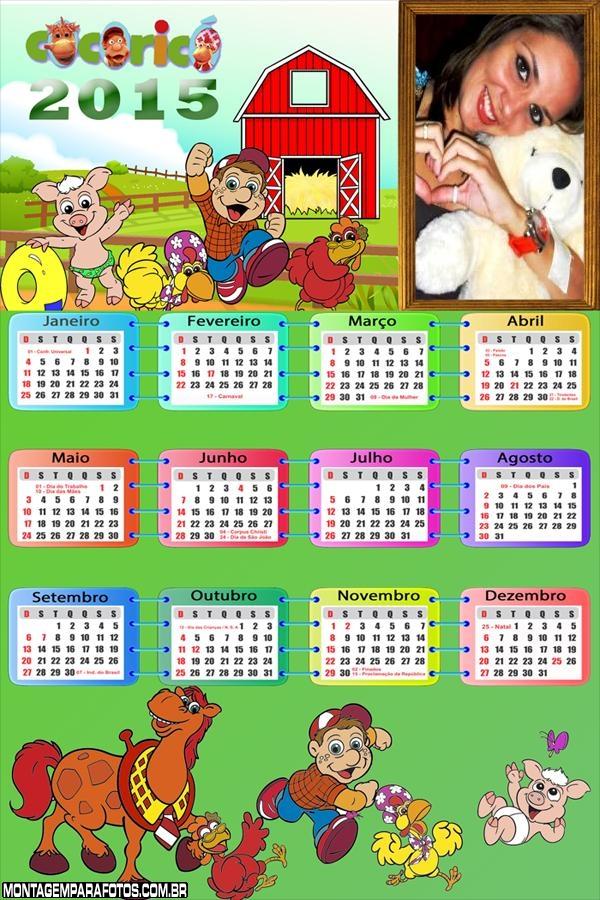Calendário 2015 Fazenda Coricó