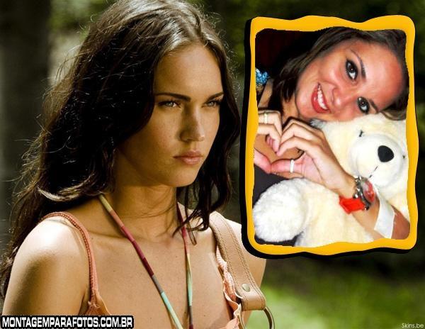 Moldura Jovem Megan Fox