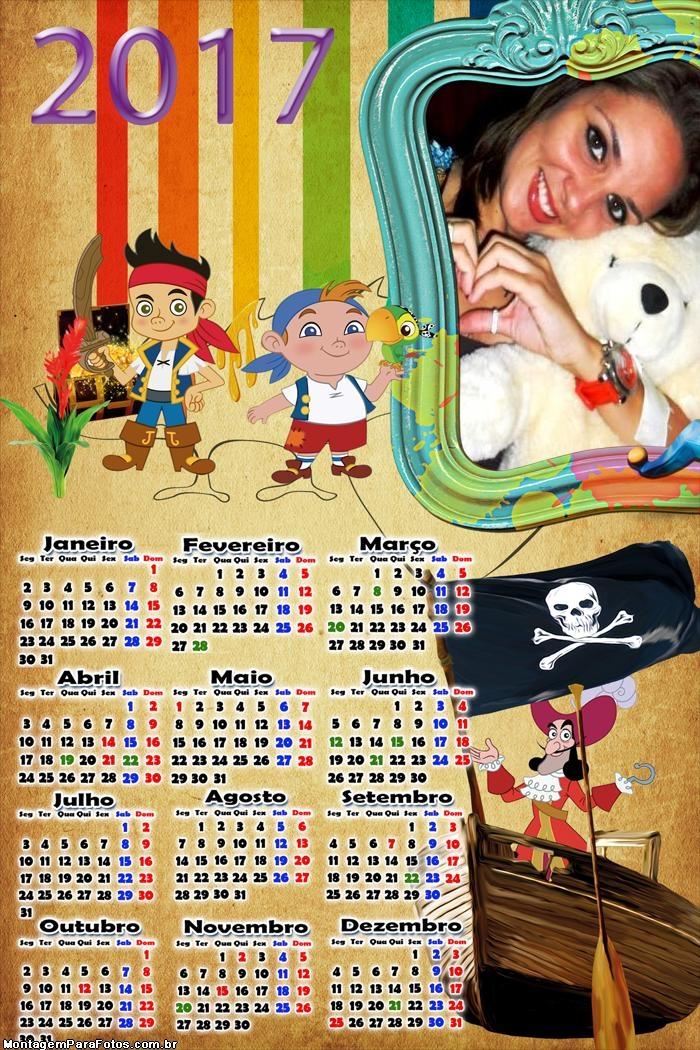 Calendário 2017 Piratinhas
