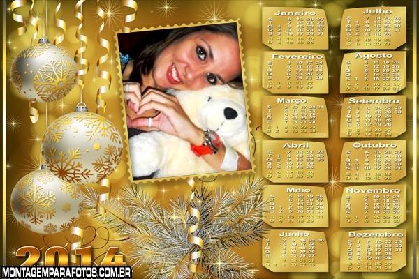Bolas Douradas Natal 2014