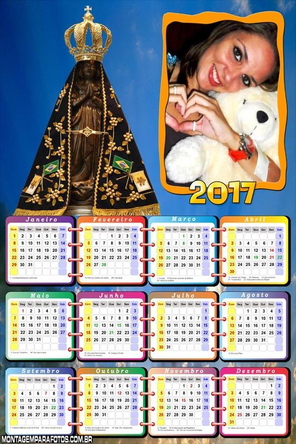 Calendário 2017 com a Padroeira