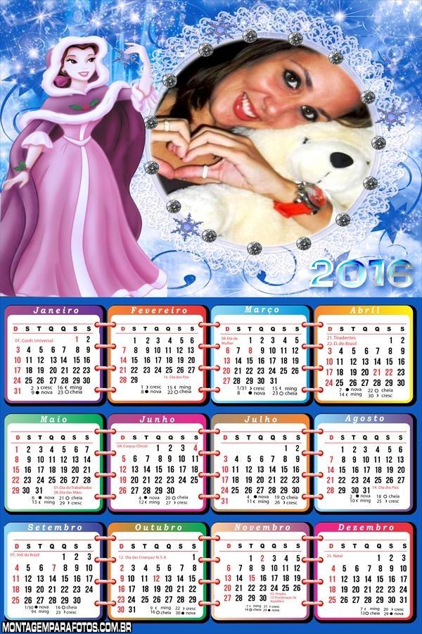Calendário de Princesas 2016