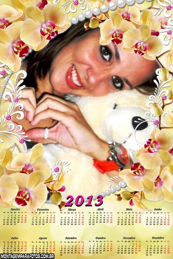 Colar de Flores Calendário 2013