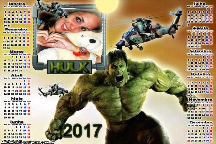 Calendário 2017 Hulk e Helicópteros