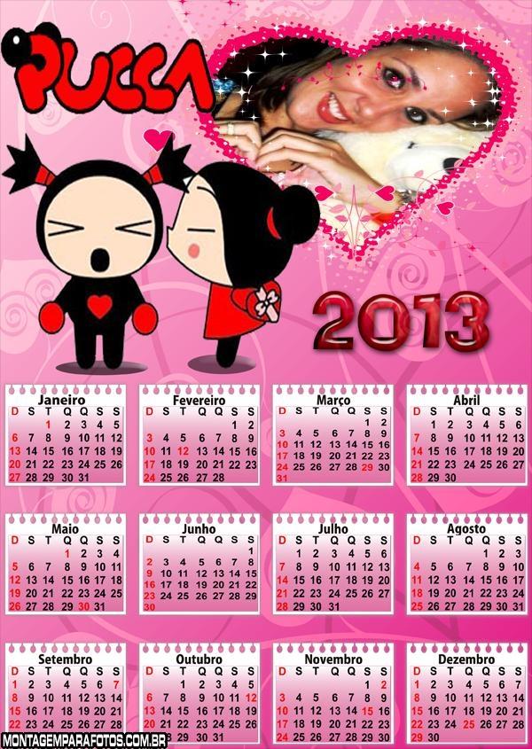 Calendário Namorados Pucca