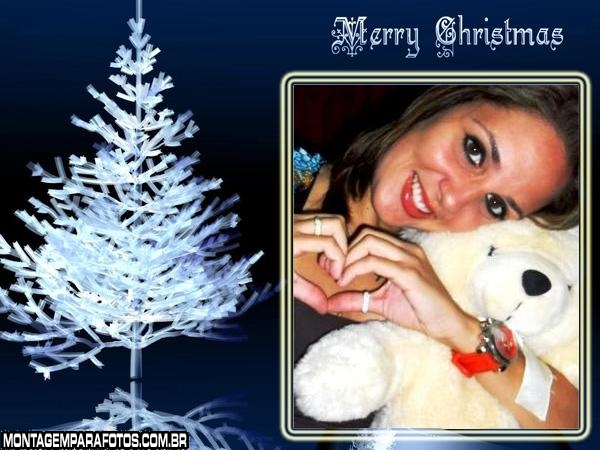 Moldura Árvore de Gelo no Natal