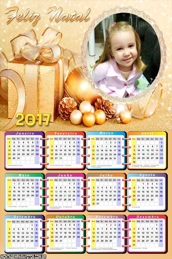 Calendário 2017 FotoMoldura de Natal