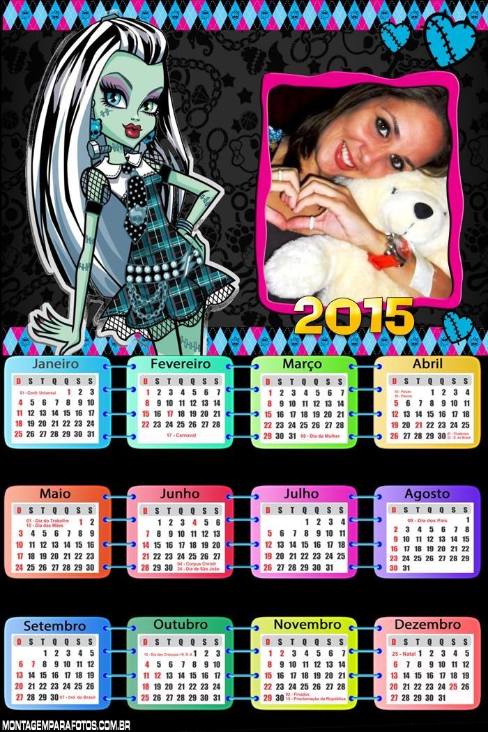 Calendário 2015 Frankie