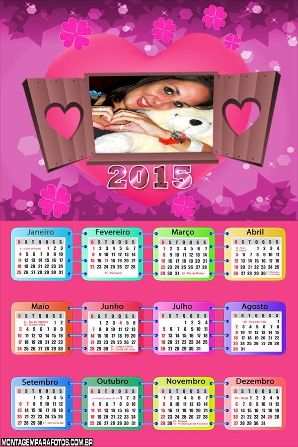 Calendário 2015 de Amor