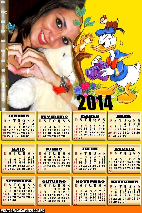 Calendário Pato Donald 2014