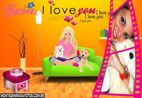 Moldura Barbie no Sofá