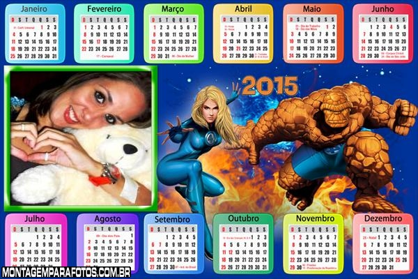 Calendário 2015 Quarteto Fantástico