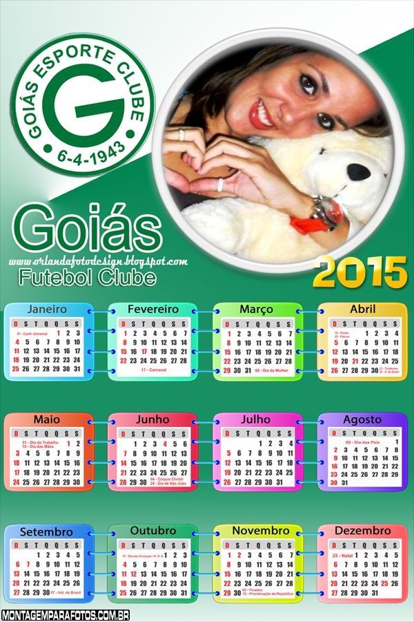 Moldura Calendário 2015 do Goiás