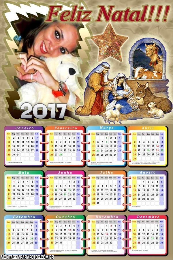 Calendário 2017 Nascimento do Menino Jesus